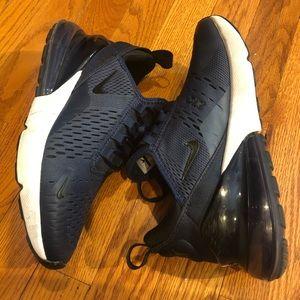Nike 270. Navy blue size 5.5Y or 7.5 women
